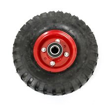 "10"" AIR WHEEL TYRE 4.10/3.50-4 HEAVY DUTY RIDE-ON MOWER TROLLEY GO-KART 6PR"