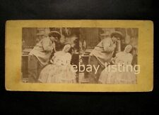 Stereoview 1850-1860 stereo card nude woman old 3D photo naked stereograph w man