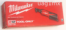 NEW  Milwaukee 2457-20 Cordless 12V M12 3/8'' Drive Ratchet