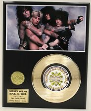"""MOTLEY CRUE """"GIRLS"""" GOLD RECORD LTD EDITION LASER ETCHED WITH SONG'S LYRIC"""