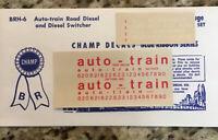 Champ Decals Blue Ribbon Series BRH-6: Auto-train Road Diesel / Switcher New 2-2
