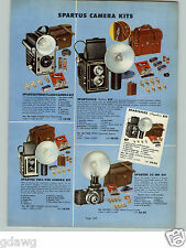 1954 PAPER AD 2 Sided Spartus Camera Spartaflex Deluxe Kit COLOR Flash