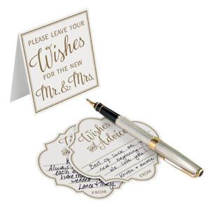 wishes and advice cards for the Mr. & Mrs. wedding guest book alternative