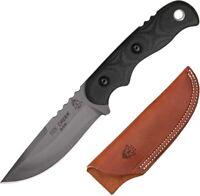 "TOPS Tex Creek Fixed Knife 4.125""  1095 High Carbon Steel Blade Micarta Handle"