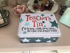 The Bright Side - Teacher Tin - Metal Storage Tin with Hinged Lid