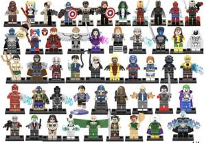 Marvel Minifigures Avengers X-Men Xmen Spiderman Super Hero DC Mini Figures
