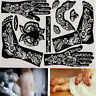 Face Paints Temporary Decal India Henna Kit Body Art Template Tattoo Stencils