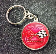 Corvette Schlüsselanhänger Logo rot beidseitig - Maße 37mm