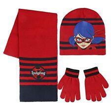Ladybug gorro bufanda guantes