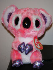 """Ty Beanie Boos ~ KACEY the 6"""" Pink Koala Bear ~ 2015 NEW with MINT TAGS ~RETIRED"""