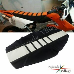 Ribbed Gripper Soft Seat Cover White/Black For Honda CR125R CR250R CRF 250R 450R