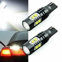 2PCS 50w 921 912 T10 LED Light 6000k HID White Backup Reverse Lights Bulb Kit ~