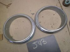 1959 1960 Studebaker Lark Headlight Bezel Trim Molding Ring Escutcheon Pair 1961 Fits Studebaker