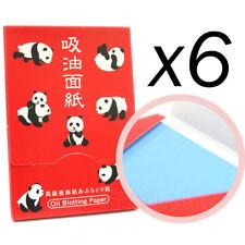 Katani Japan Panda Oil Blotting Paper powder type (100 sheets) x 6 Items