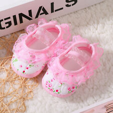 Newborn Infant Baby Girl Princess Non-Slip Boots Flower Baby Shoes Soft Sneaker