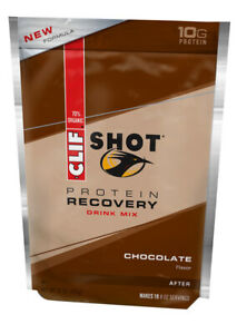 Clif Bar Clif Shot Recovery Protein Drink Mix Chocolate Pouch 16oz - 10 Servings