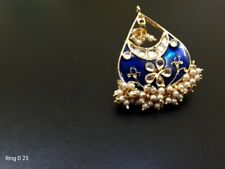 Indian Bollywood Fashion Party Wear Gold Plated Adjustable Size Kundan Rings E36