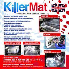 KILLER MAT SOUND DEADENING SOUND PROOFING DAMPING VIBRATION MATERIAL (10 mats)