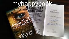 SIGNED Ramses the Damned The Passion of Cleopatra by Anne Rice, autographed, new