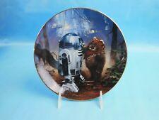Hamilton Collection Star Wars Plate R2-D2 & Wicket #1261L Coa