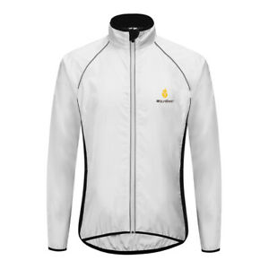 Men's Windproof Cycling Jackets Waterproof High Visibile MTB Road Bike Wind Coat