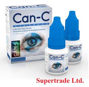 Can-C Eye Drops 2 X 5ml Lubricant Eye Drops with Antioxident N- Acetylcarnosine
