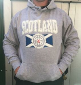 Scotland Flag Dragon Grey Hoodie Unique Design Unisex Size S New with Tag UK