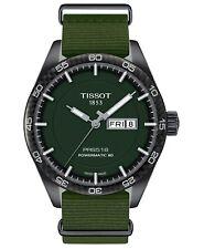 NEW Tissot Swiss PRS516 Powermatic 80 Green Fabric Strap Watch T1004303709100