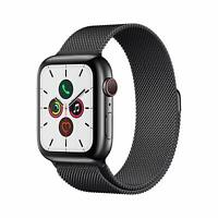 Apple Watch Gen 5 Series 5 Cell 44mm Space Black Stainless Steel - Black Sport