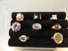 925 STERLING SILVER MISCELLANEOUS RINGS LOT OF 8 VARIOUS SIZE # S 1443
