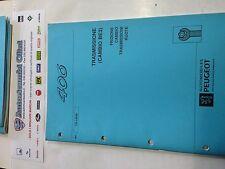 MANUALE TECNICO PEUGEOT 406 742-I-09/95 SPECIALE: TRASMISSIONE -CAMBIO -FRIZIONE
