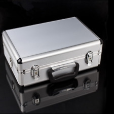 LARGE HARD ALUMINIUM FLIGHT CARRY CASE FOAM TOOL LOCKABLE KEY CAMERA STORAGE BOX
