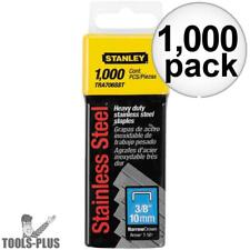 """Stanley Tra706Sst 1000pk 3/8"""" Stainless Steel Narrow Crown Staples New"""