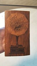 1910 Edison Cylinder Phonograph Catalog Amberola 1A Triumph Idelia Alva