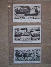 TAPISSERIES DE LA REINE MATHILDE (BAYEUX) - LOT 3 CARTES POSTALES ANCIENNES