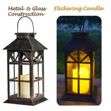SteadyDoggie Solar Torches Lantern Solid Metal And Glass Construction Estate