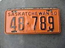 1950 50 SASKATCHEWAN CANADA CANADIAN LICENSE PLATE # 48 789