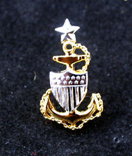2 Two Us Coast Guard Collar Hat Pin E-8 Senior Chief Petty Officer Authentic!