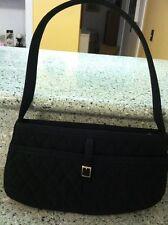 Cute Small Vera Bradley Black Quilted Microfiber Purse Bag