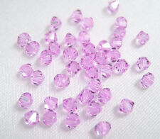 24 Swarovski Crystal Beads Xilion # 5328 Violet 4MM
