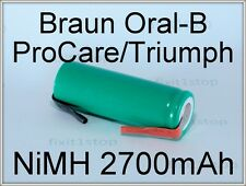 NEW NiMH Battery 2700mAh Braun Oral-B ProCare Triumph Toothbrush 3731 3738 !