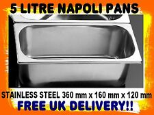 NAPOLI PAN OFFER 12 X 5 LITRE STAINLESS STEEL NAPOLI ICE CREAM PANS £9. each