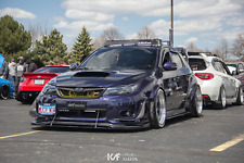 2011-2014 WRX & STI Front Lip Splitter With Support Rods Hardware Included - EF