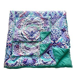 Pottery Barn Teen PB Kaleidoscope Comforter Full Queen 2 Pillow Shams Set Purple