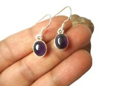 Oval  AMETHYST  Sterling  Silver  925  Gemstone  EARRINGS  -  Gift  Boxed