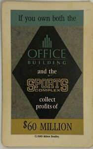 1989 TRUMP THE GAME BOARD GAME $60 MILLION OFFICE BUILDING SPORTS COMPLEX CARD