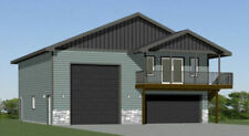 40x40 Apartment with 2-Car 1-RV Garage - PDF FloorPlan - 964 sqft - Model 1A