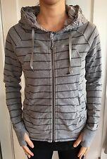 Lululemon Size 4 Movement Jacket Zip Striped Gray Ruched Tencel Hoodie Scuba