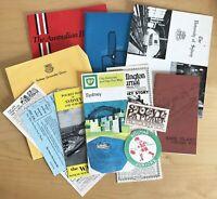 Lot 12 Sydney Australia Ephemera 1960s-1970s Maps Brochures Programs