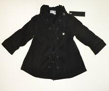 S&D Le Chic schwarzer Mädchen Mantel mit Volants Gr. 86  NEU mit Etikett